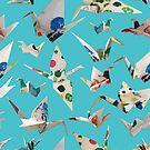Paper Cranes Sky by design-r