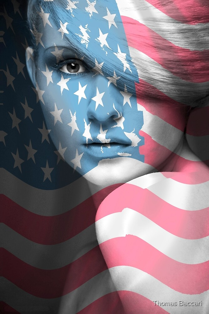 American Woman Flag by TJ Baccari Photography