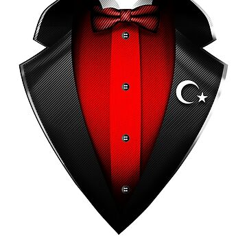 Turkey Flag Turkish Roots DNA and Heritage Tuxedo by nikolayjs