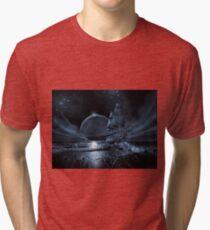 Ghost ship series: Full moon rising Tri-blend T-Shirt