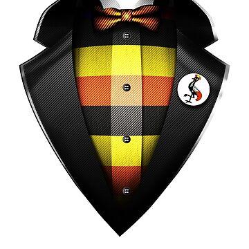 Uganda Flag Ugandan Roots DNA and Heritage Tuxedo by nikolayjs