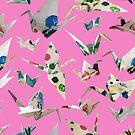 Paper Cranes Blush by design-r