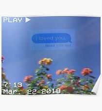 I loved you LANY Poster