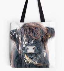 Highland Cow in Snow Tote Bag