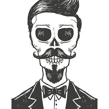 Stylish Skeleton Mustache Man by rott515