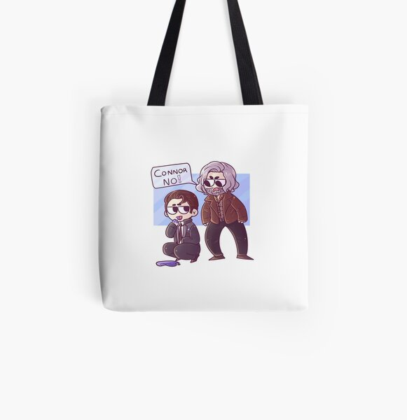 Hank and Connor All Over Print Tote Bag