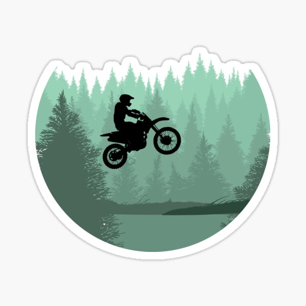 Cool Motocross Forest Jump dirt bike riders and motocross fans gift Sticker