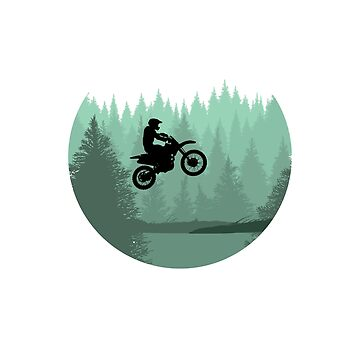 Cool Motocross Forest Jump dirt bike riders and motocross fans gift by Flo991990