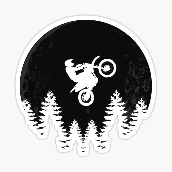 Cool Motocross Moon Jump dirt bike riders and motocross fans gift Sticker