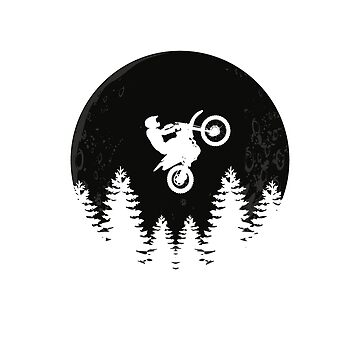 Cool Motocross Moon Jump dirt bike riders and motocross fans gift by Flo991990