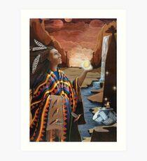 Earthgate -spiritual oil painting Art Print