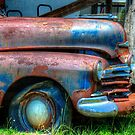 Closeup of Old Abandoned Car by TJ Baccari Photography