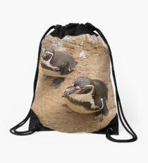 Penguin Couple Drawstring Bag