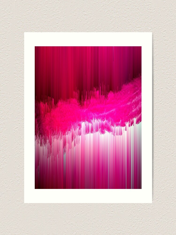 Alternate view of Frisson - Abstract Pixel Art Art Print