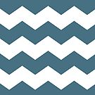 Desaturated Green and White Chevron by itsjensworld