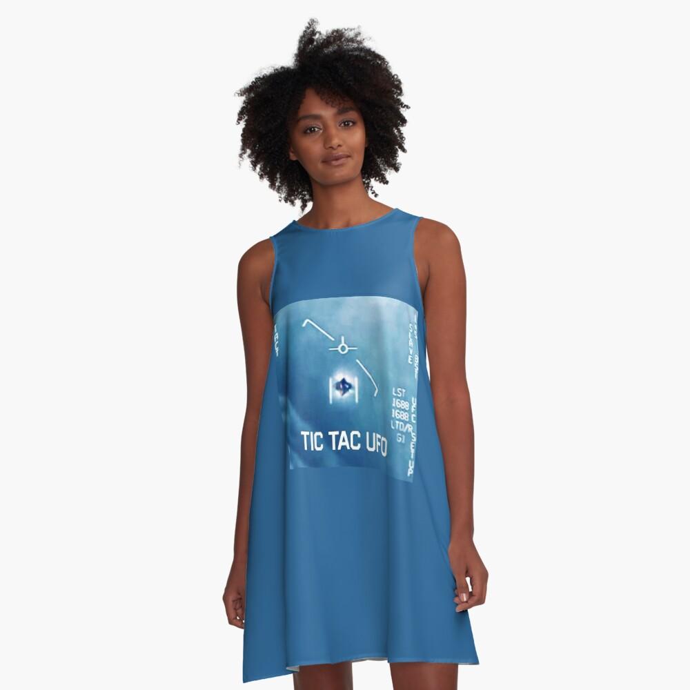 Tic Tac Ufo A-Line Dress