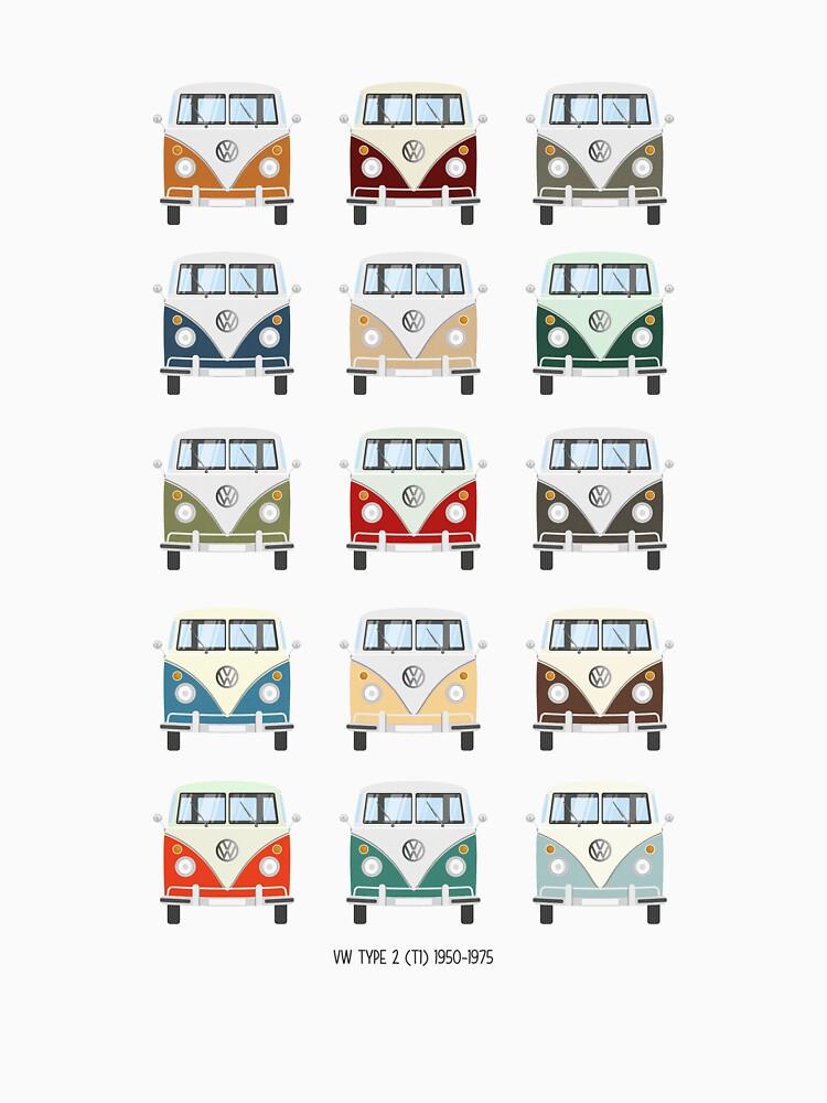 Colores VW T1 de muharko