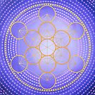 Metatron's cube painting on canvas by Anastasia Helten