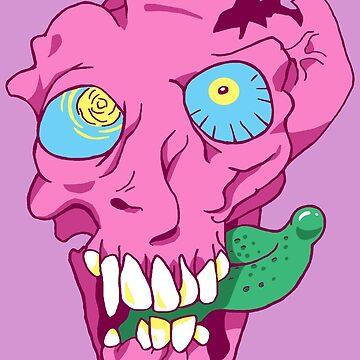 Bubblegum Skull by mysticfetus