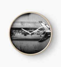 1960s Chevrolet Impala Classic Automobile Black and White Photo - Cars that I Used to Know Series  Clock