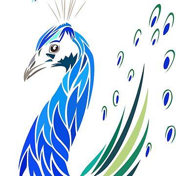 Peacock tribal by albertocubatas