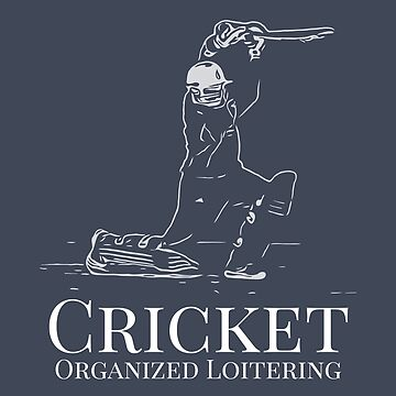 Funny Cricket Batsman Cricketer Design Logo Style by Andrewkgolf