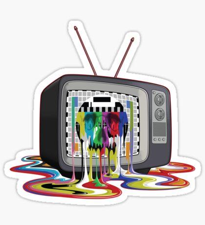 Television Melt of Death Sticker