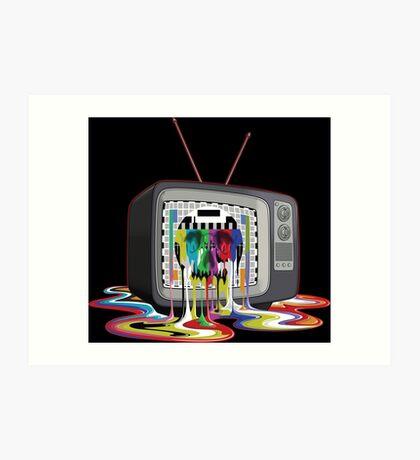 Television Melt of Death Art Print