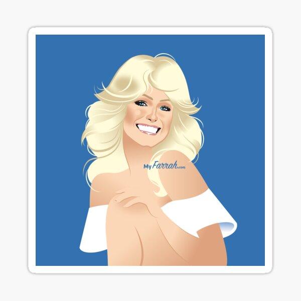 MyFarrah.com Blue Sticker