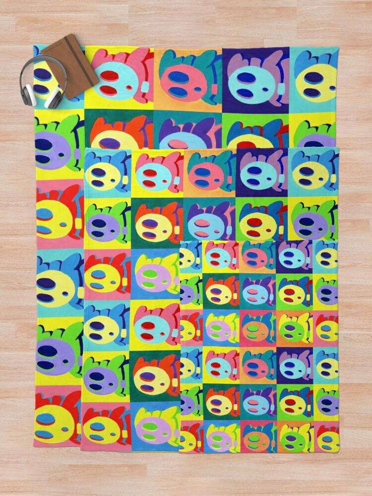 Alternate view of Warhol Shyguys Throw Blanket