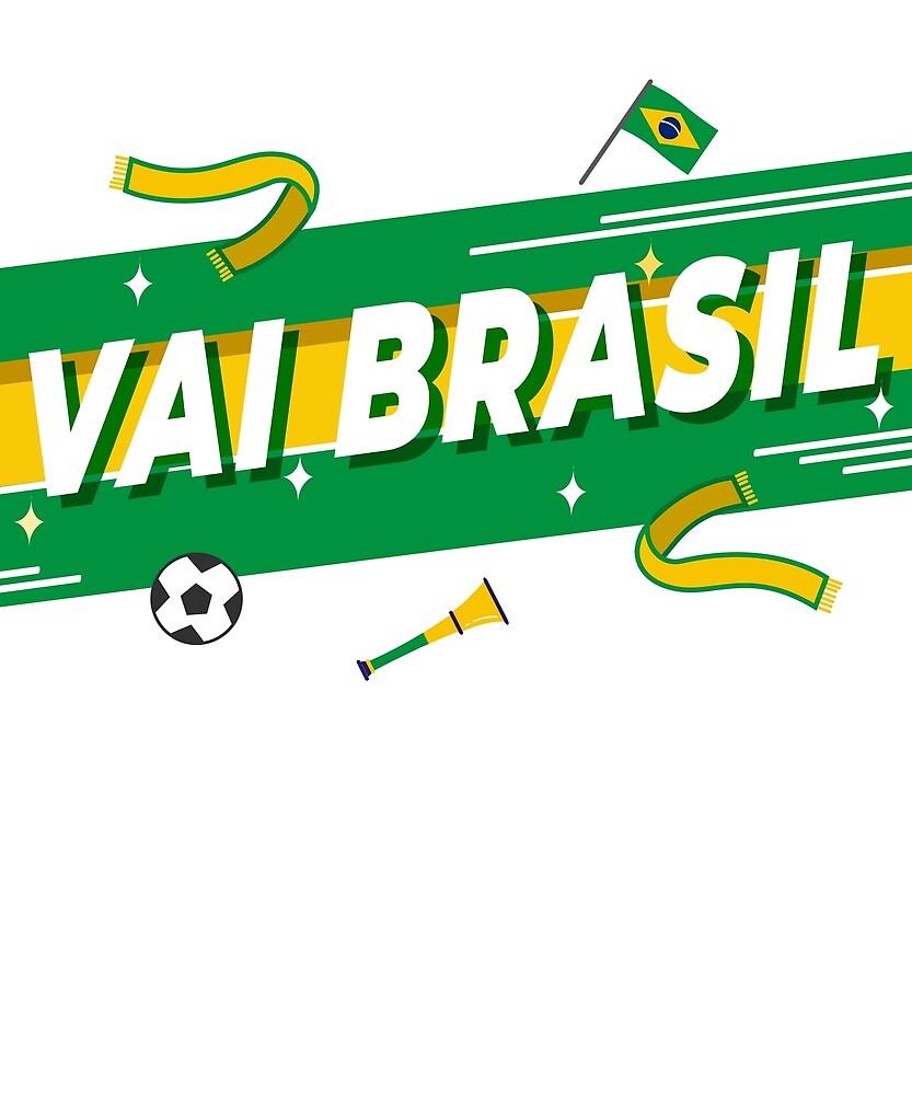 Vai Brasil World Cup Fan T-shirt by yanbirog