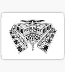 Escher's playground Sticker