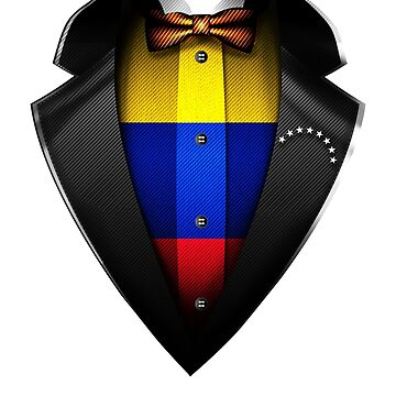 Venezuela Flag Venezuelan Roots DNA and Heritage Tuxedo by nikolayjs