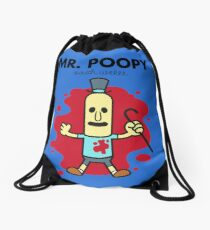 Mr. Poopy Drawstring Bag