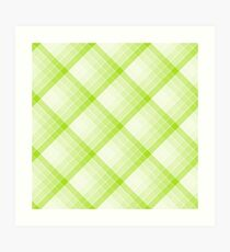 Lime Green Geometric Squares Diagonal Check Tablecloth Art Print