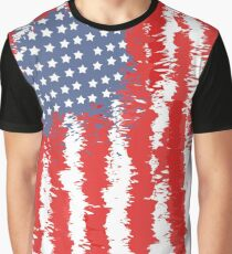 Grunge Flag of America for Patriots Graphic T-Shirt