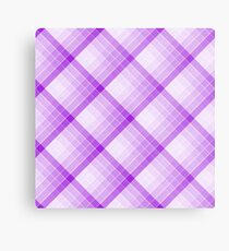 Purple Geometric Squares Diagonal Check Tablecloth Metal Print
