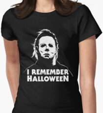 I Remember Halloween - Michael Myers Women's Fitted T-Shirt