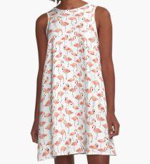 Flamingo Party A-Line Dress