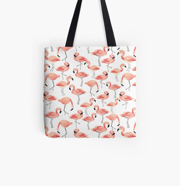 Flamingo Party All Over Print Tote Bag