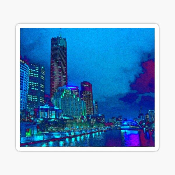 Yarra River, Melbourne, Australia Sticker