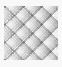 Gray Geometric Squares Diagonal Check Tablecloth Photographic Print