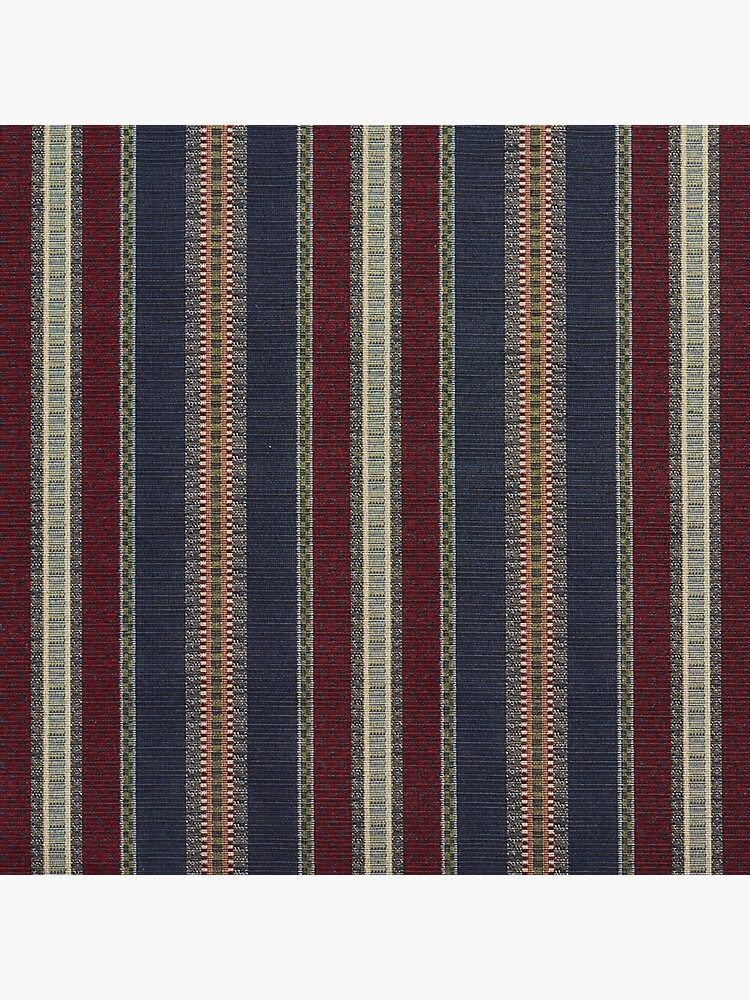 Navy Stripe Burgundy and Dark Blue Country Tapestry by DigiArtyst