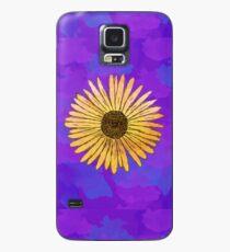 Sonnenblume Doodle (Hintergrund) Hülle & Klebefolie für Samsung Galaxy