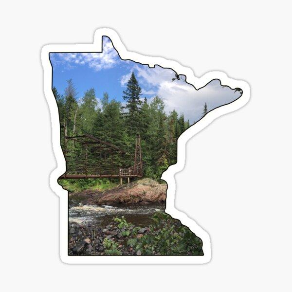 State of Minnesota Outline (Tettegouche State Park & Baptism River) Sticker