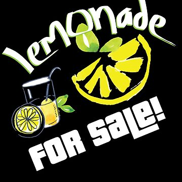 Lemonade For Sale Stand Funny Summer Beverage Gifts by kh123856