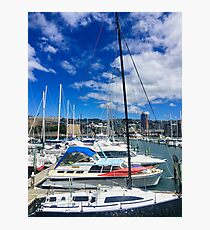 Yachts And Masts Photographic Print