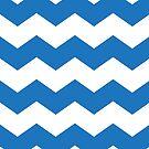Bright Blue Chevron Print by itsjensworld