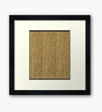 Tropical woody bamboos Framed Print