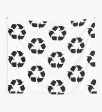 Recycle Symbol Wall Tapestry
